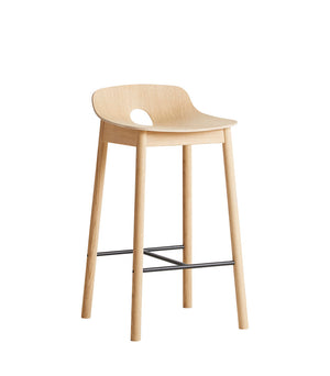 Mono counter chair, white