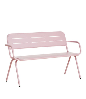 RAY bench with armrest, rose