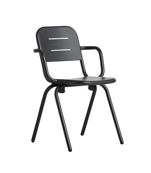 RAY café armchair, black