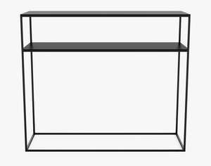 Metal console table w. shelf,35x100xH85 cm,phantom