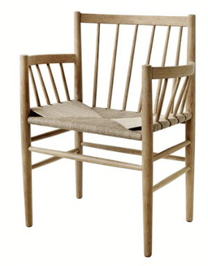 Joergen Baekmark dining chair - J81 - lacquered oak/braided seat