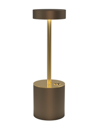 TakeMe I battery table lamp, bronze/brass