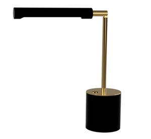 TakeMe II battery table lamp, black/brass