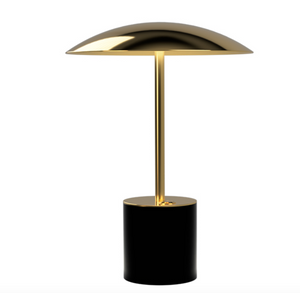 TakeMe III battery table lamp, black/brass