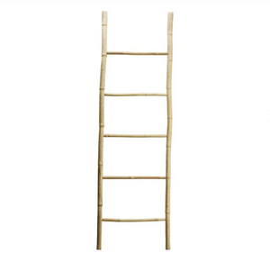 Bamboo deco ladder, 60 x H 200 cm, natural