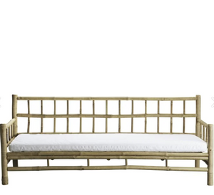 Bamboo lounge couch, 177x76xH33/70 cm