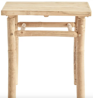 Bamboo lounge table, 45x45xH45 cm, natural