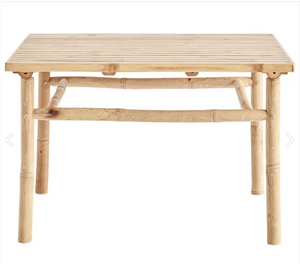 Bamboo lounge table, 70x70xH45 cm, natural
