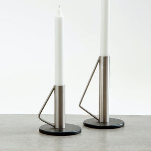 Andersen Candle holder - Medium - 17 cm - Steel/Black