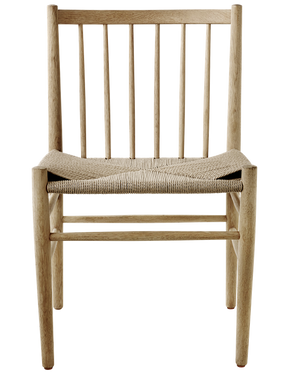 Joergen Baekmark dining chair - J80 - lacquered oak/braided seat