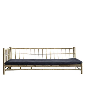 Bamboo lounge bed, 220x120xH70 cm, right gabled