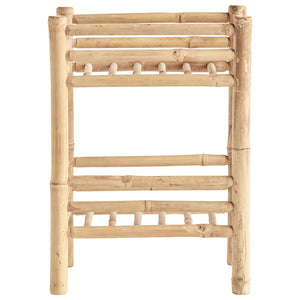 Bamboo rack with 2 shelfs, 40x30xH55 cm, nature