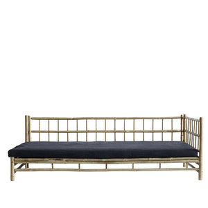 Bamboo lounge bed, 220x120xH70 cm, left gabled