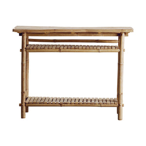Bamboo console table 90x37xH76 cm, nature