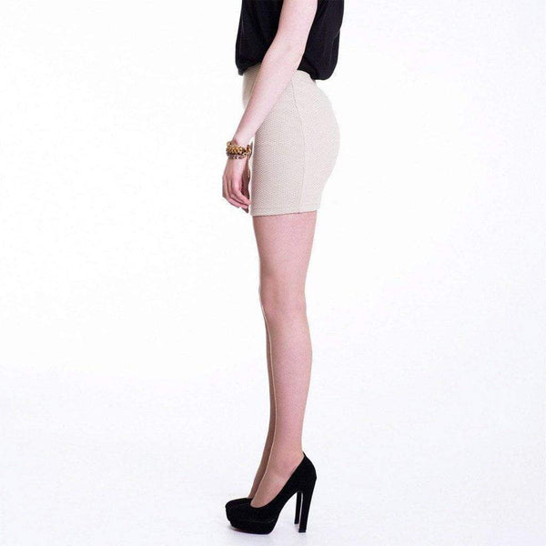 Beige Bodycon Micro Mini Skirt WE Skirts