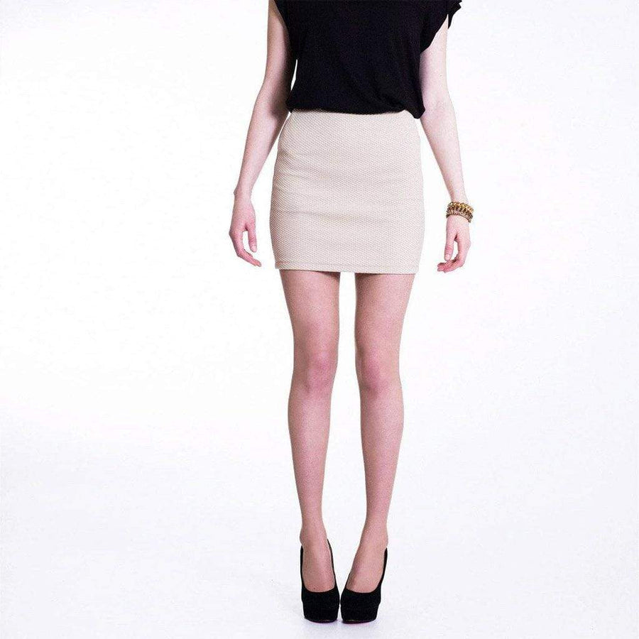Beige Bodycon Micro Mini Skirt - WE - Eponymous