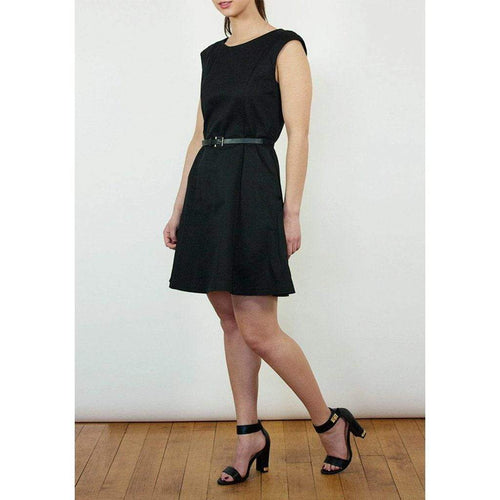 Black Belted Dress WE Dresses