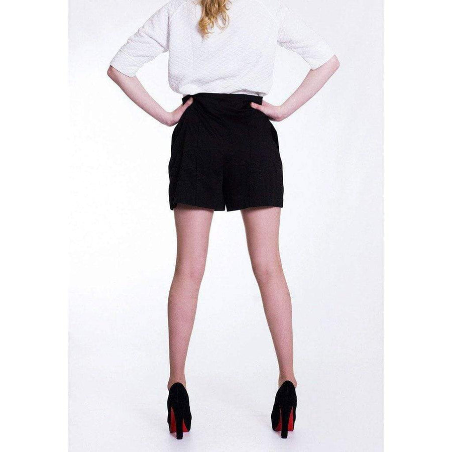 Black Culotte Shorts with Pockets - WE - Eponymous
