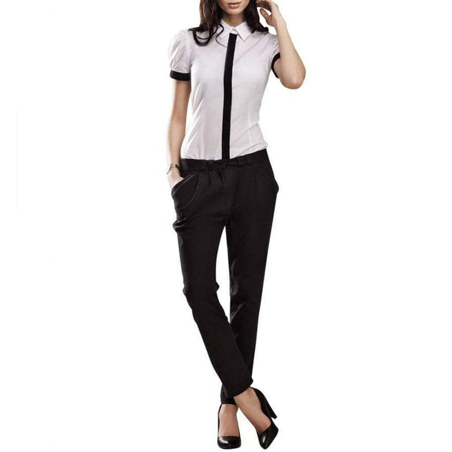 Black Tapered Cigarette Trousers - Nife - Eponymous