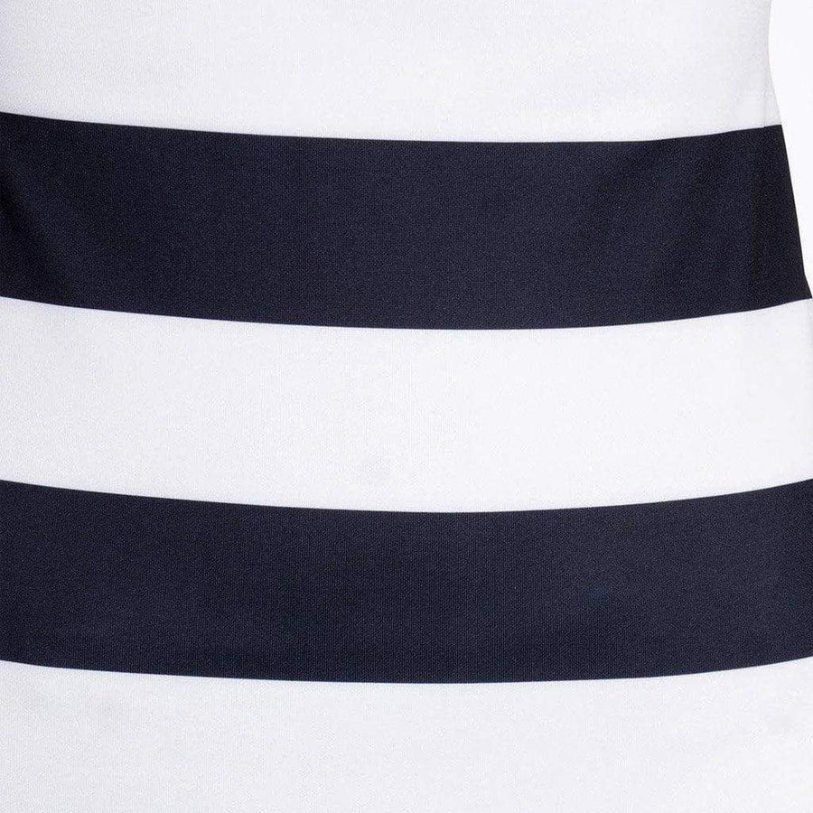 Black & White Striped Bodycon Dress with Low Back - WE - Eponymous