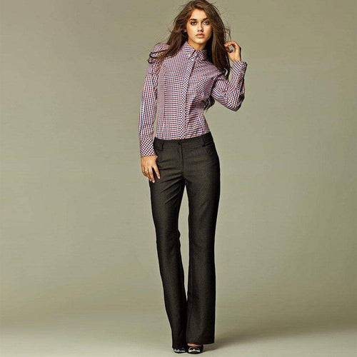 Charcoal Straight-Leg Trousers Nife Trousers