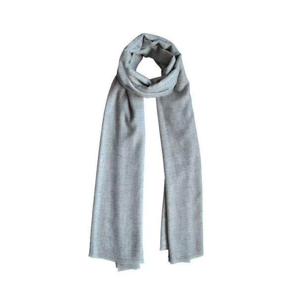 Cloud Grey Unisex Cashmere Scarf Kopé London Cashmere Scarves