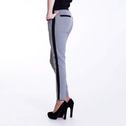 Grey Jacquard Skinny Stretch Trousers WE Trousers