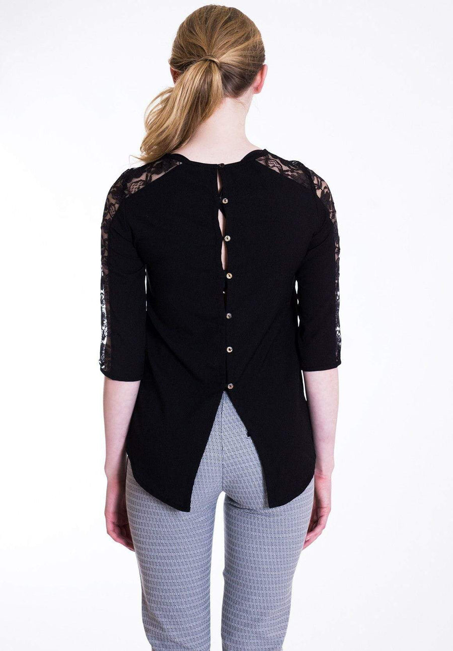 Black Lace Detail Top - WE - Eponymous