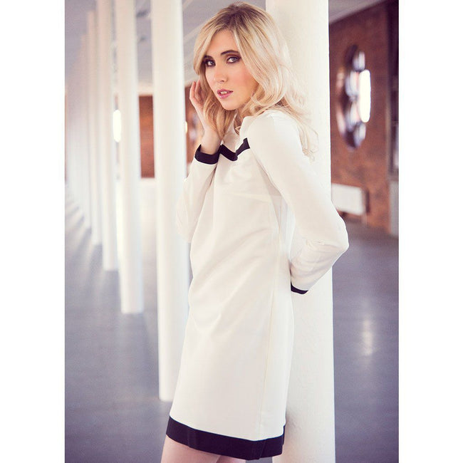 Monochromatic Shift Dress Nife Dresses