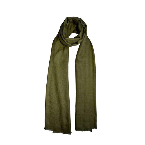 Moss Green Cashmere Scarf KOPḖ London Cashmere Scarves