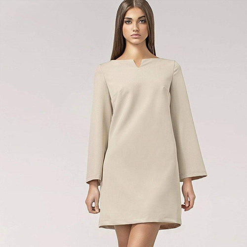 Neutral 60s Shift Dress Nife Dresses