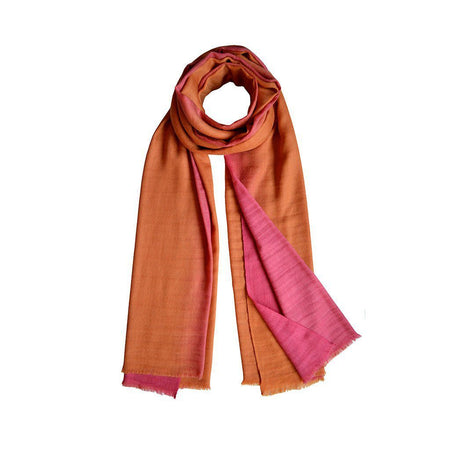 Grey & Pink Ombre Oversized Cashmere Scarf