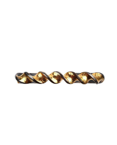 Oxidised Sterling Silver Helix Cuff with 24 Karat Gold Leaf Zeynep Alppay Fine Jewellery