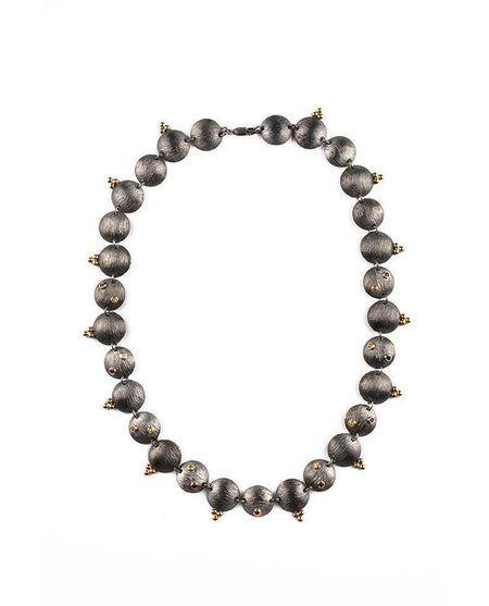 Mara - Black Swarovski & Hematite Necklace