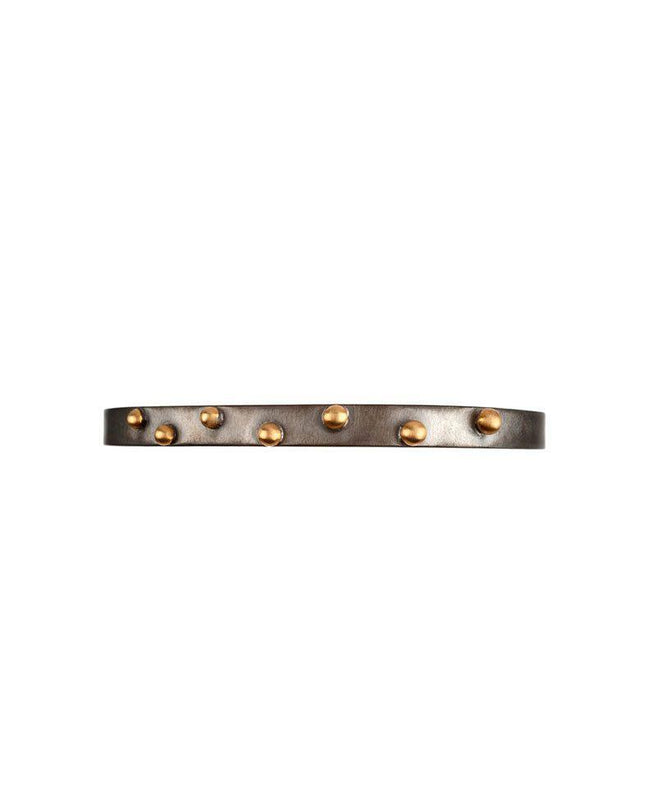 Oxidised Sterling Silver Slim Bracelet with 14 Karat Gold Beads Zeynep Alppay Fine Jewellery