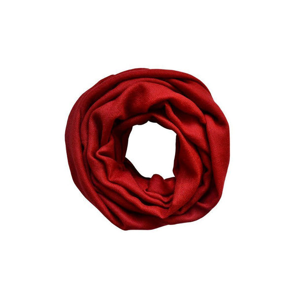 Ruby Red Cashmere Scarf Kopé London Cashmere Scarves