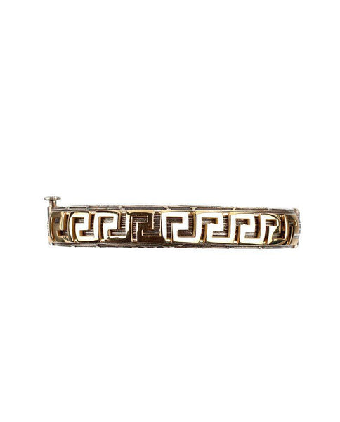 Sterling Silver Bracelet with 14 Karat Gold Greek Motifs Zeynep Alppay Fine Jewellery