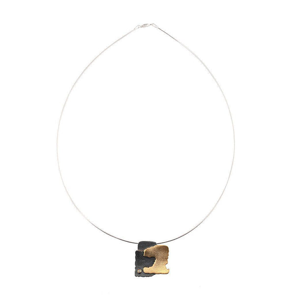 Sterling Silver Necklace with Diamond Zeynep Alppay Necklaces