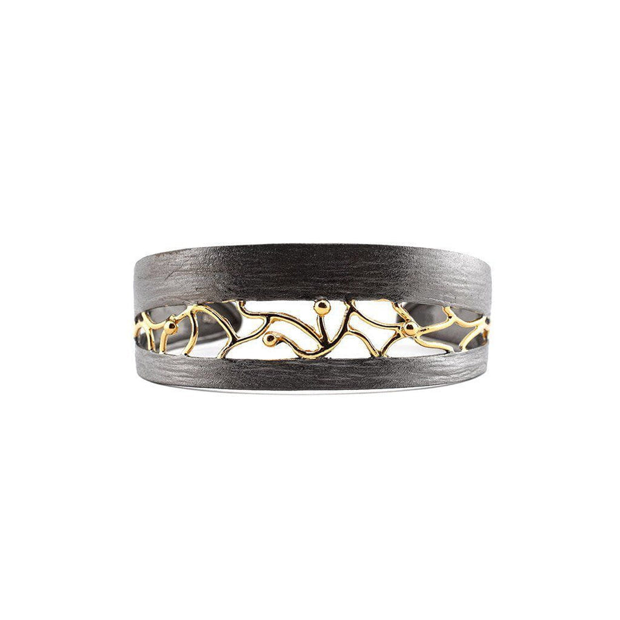 Sterling Silver Twin Cuff with Gold Plated Detailing - Zeynep Alppay - Eponymous