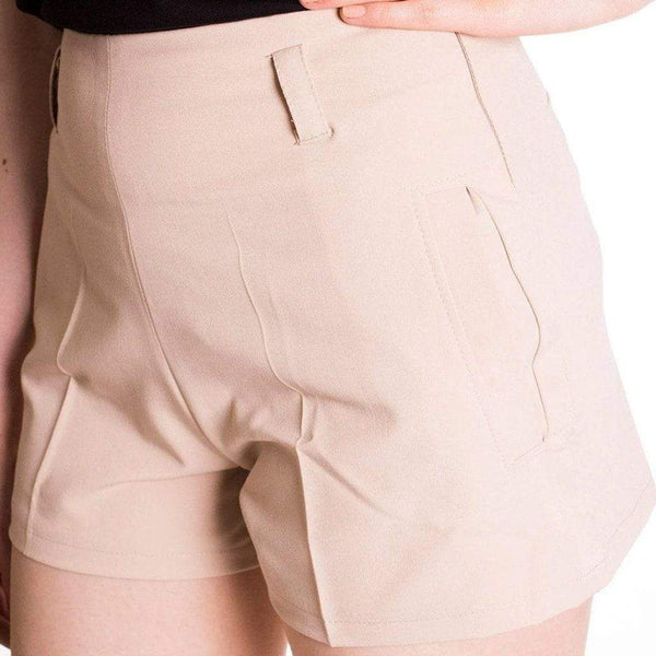 Tailored Beige Shorts with Pockets MOE Shorts
