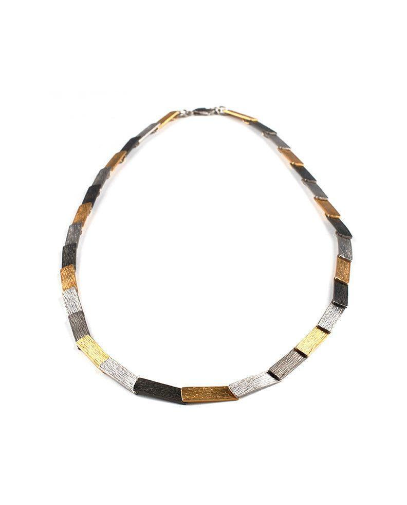 Tricolor Sterling Silver Necklace - Zeynep Alppay - Eponymous