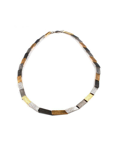 Tricolor Sterling Silver Necklace Zeynep Alppay Fine Jewellery