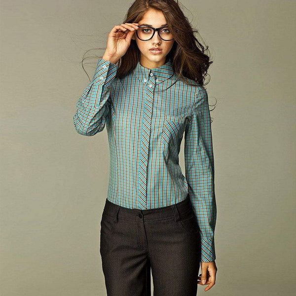 Turquoise Checkered Shirt Wear Eponymous Shirts