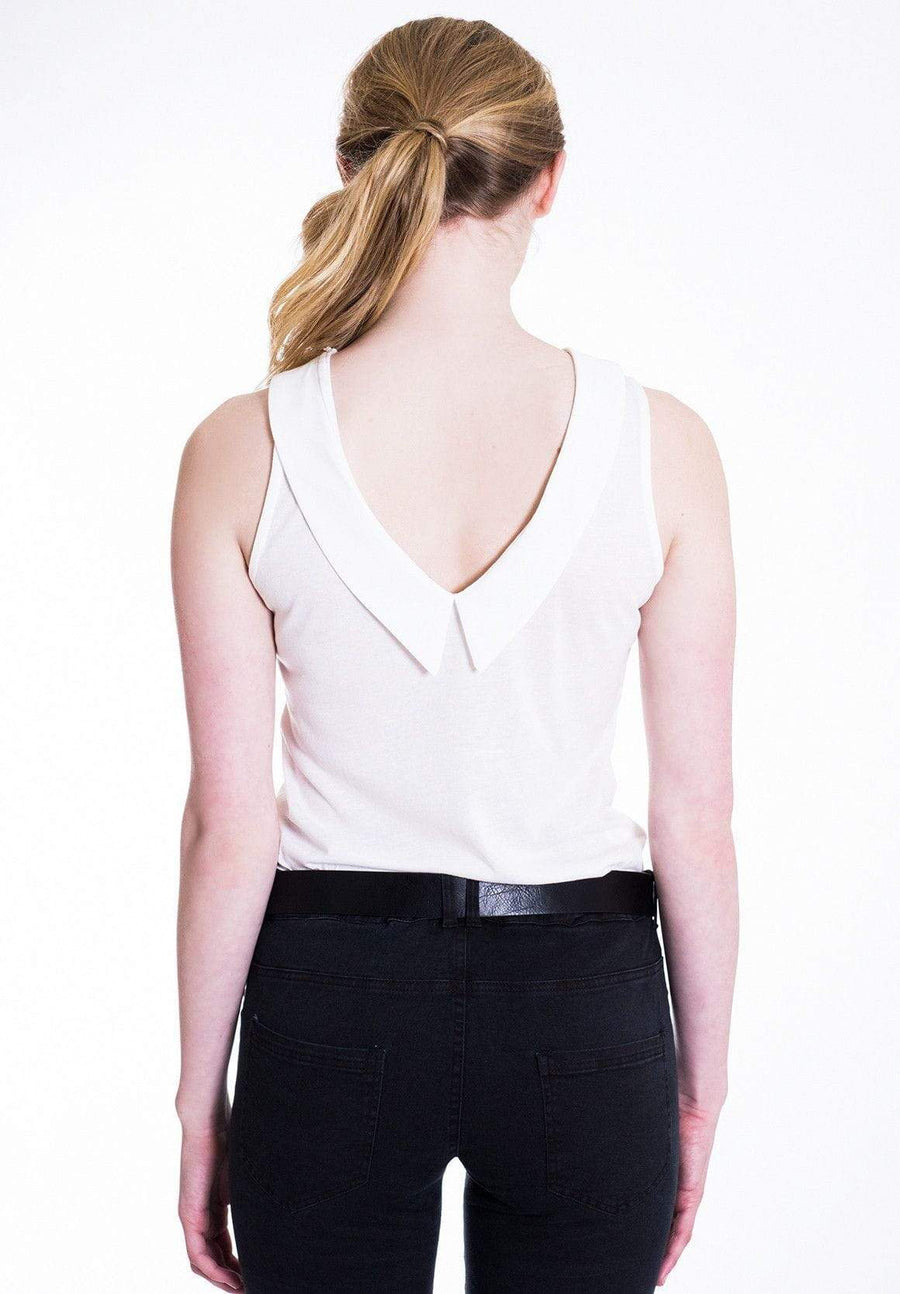 Lightweight White Sleeveless Top - WE - Eponymous