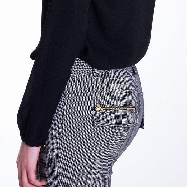Zip Detail Slim Fit Trousers MOE Trousers