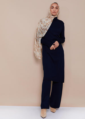 Roll Neck Midi Navy