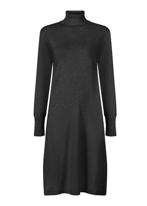 Roll Neck Midi Black