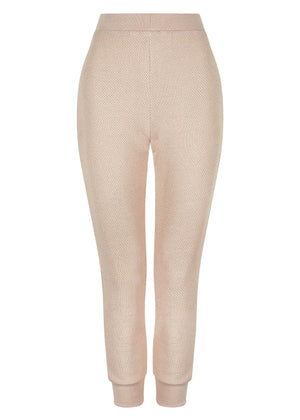 Textured Cuff Joggers Nude