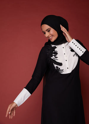 Applique Lace Abaya