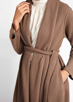 Cozy Knit Cardy Walnut